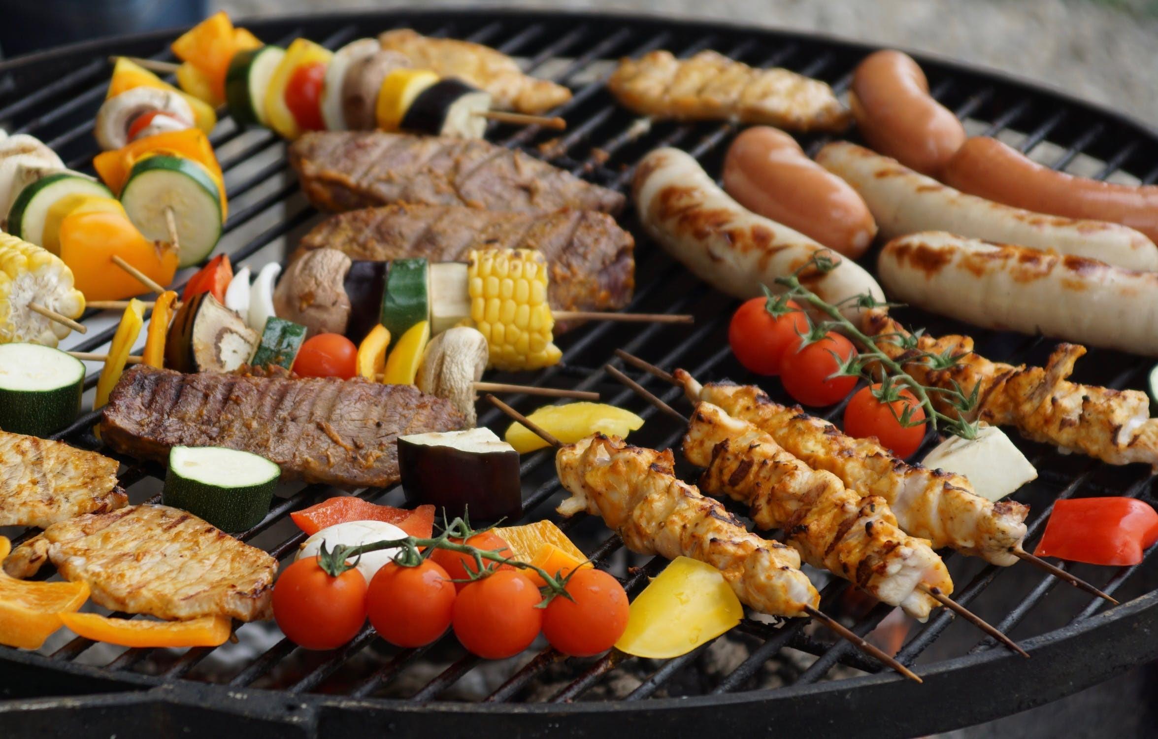 groente op de barbecue
